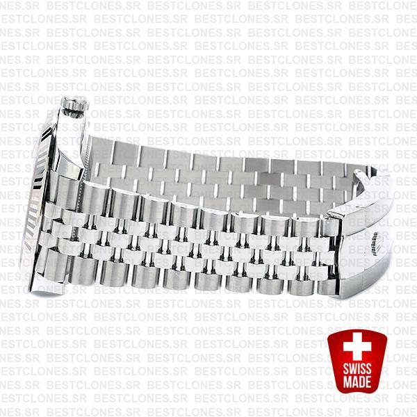 Rolex Datejust 41 Jubilee Steel 18k White Gold Swiss Replica Fluted