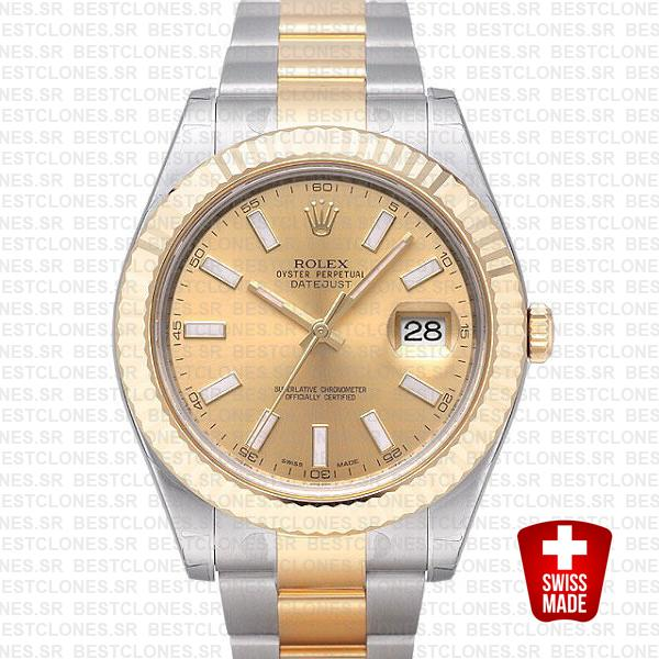 Rolex Datejust Ii 2 Tone Gold 41mm 116333 Swiss Replica