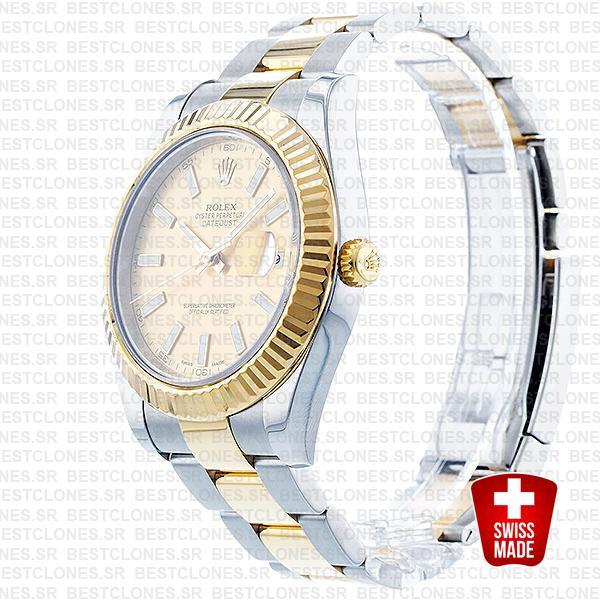 Rolex Datejust Ii 2 Tone Gold 41mm 116333 Swiss Replica