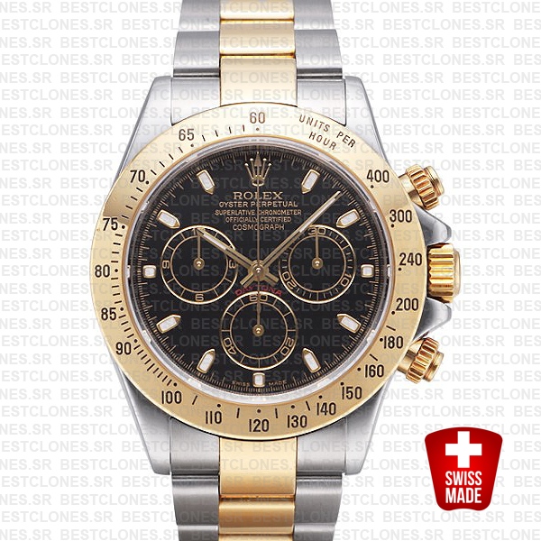 Rolex Daytona 2 Tone Black 40mm 116523