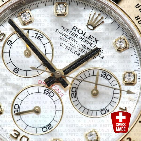 Rolex Daytona 2 Tone White Mop Diamonds 40mm 116523 Swiss Replica