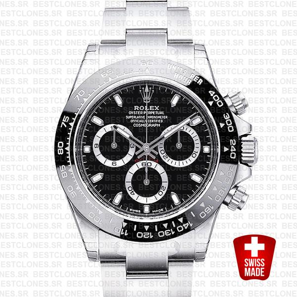 Rolex Daytona 2016 Ss Black Ceramic Bezel 116500 40mm Replica