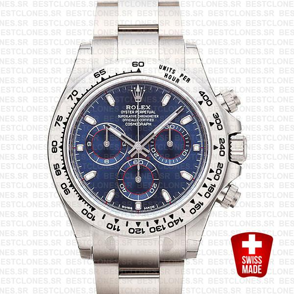 Rolex Daytona 2016 White Gold Blue 116503 40mm Replica