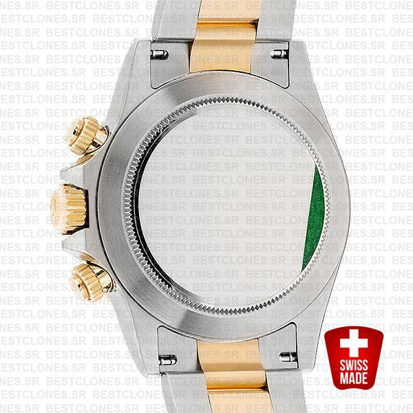 Rolex Cosmograph Daytona 2tone 18k Yellow Gold/904l Steel Black Diamond Dial 40mm Ref:116503 Swiss Replica Watch