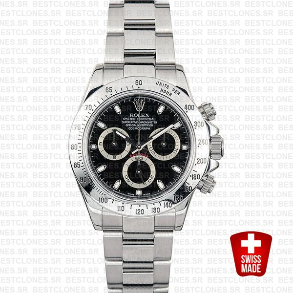 Rolex Daytona Black 116620 40mm Swiss Replica