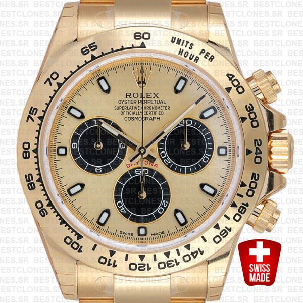Rolex Daytona Gold Dial Black Markers 116508 40mm Swiss Replica