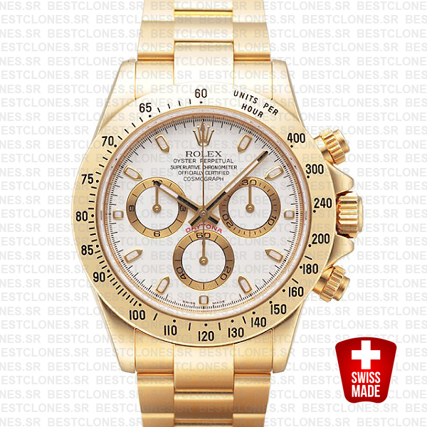 Rolex Daytona Gold White 40mm 116528