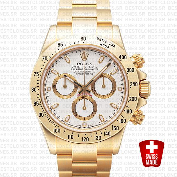 Rolex Daytona Gold White 40mm 116528
