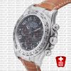 Rolex Daytona Leather Ss White Gold Grey Arabic 40mm 116519