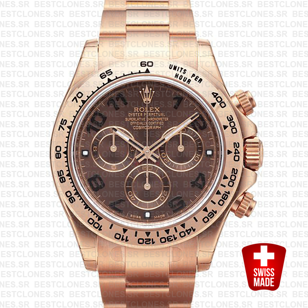 Rolex Daytona Rose Gold Chocolate Arabic 40mm 116505
