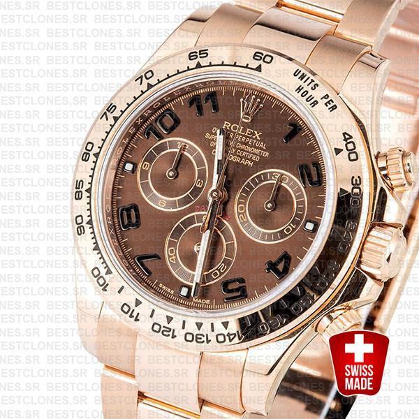 Rolex Daytona Rose Gold Chocolate Arabic 40mm 116505