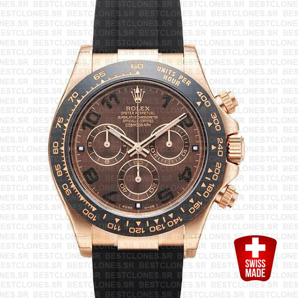 Rolex Daytona Rubber Rose Gold Chocolate Ceramic 40mm 116515ln