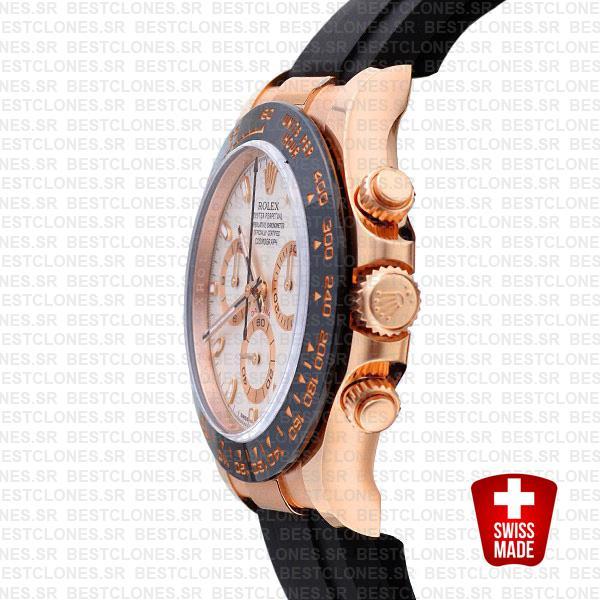 Rolex Daytona Rubber Rose Gold Ivory Ceramic 40mm