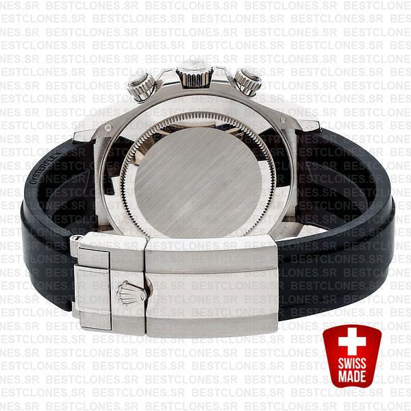 Rolex Daytona Rubber White Gold Ceramic Bezel 40mm 116519ln