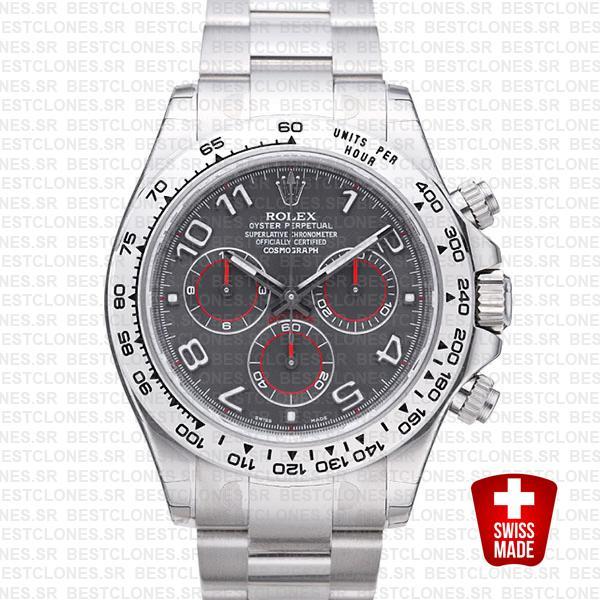 Rolex Daytona Ss White Gold Gray Arabic 40mm 116509