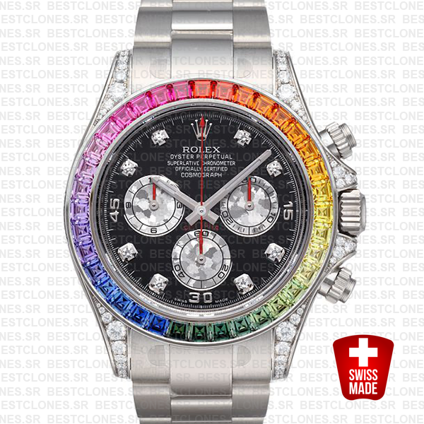 Rolex Daytona White Gold Rainbow 40mm 116599 Replica