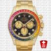 Rolex Daytona Yellow Gold Rainbow 40mm 116598 Replica
