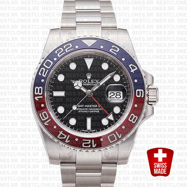 Rolex Gmt Master Ii White Gold Red Blue Ceramic 40mm 116719