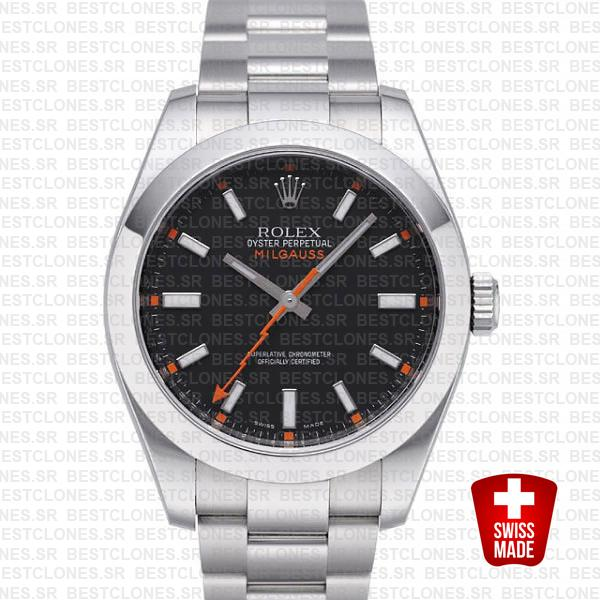 Rolex Milgauss Black Dial 40mm 116400 Swiss Replica