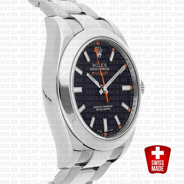 Rolex Milgauss Black Dial 40mm 116400 Swiss Replica