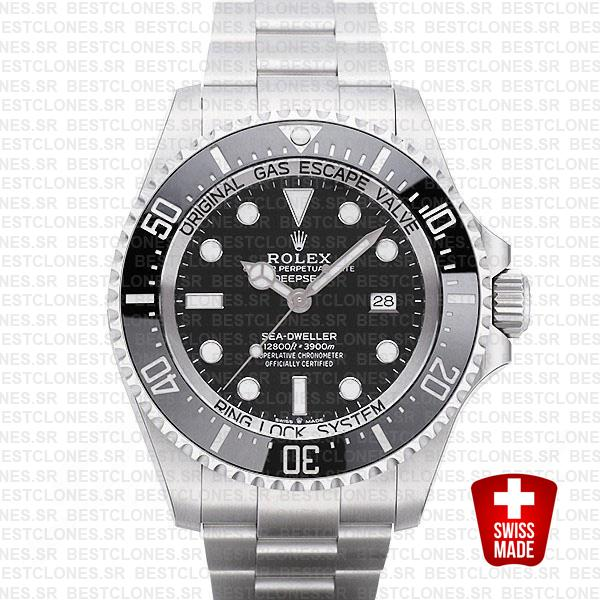 Rolex Deepsea Black Dial 44mm 126660 Swiss Replica