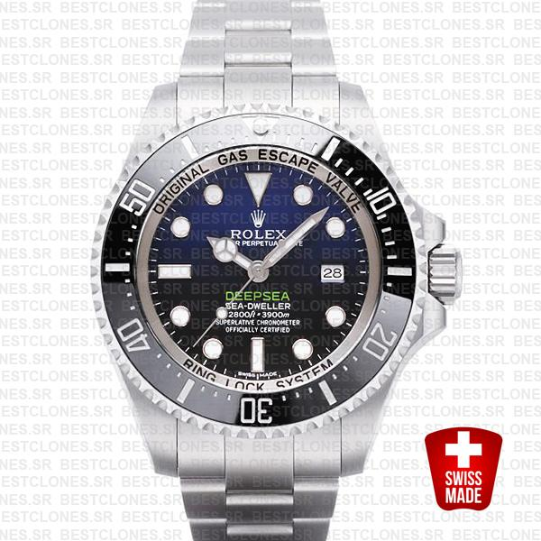 Rolex Deepsea D Blue Ss 44mm 116660 Swiss Replica
