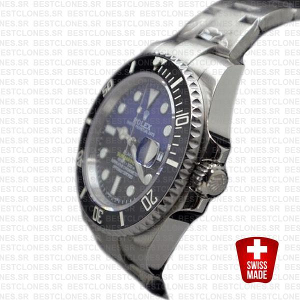Rolex Submariner Blaken D Blue Dial Black Ceramic Bezel Steel