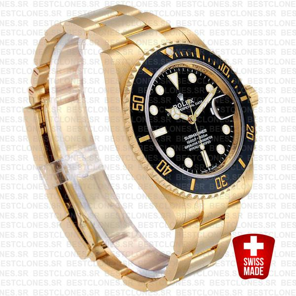 rolex submariner gold 41mm black ceramic 126618ln swiss replica 10
