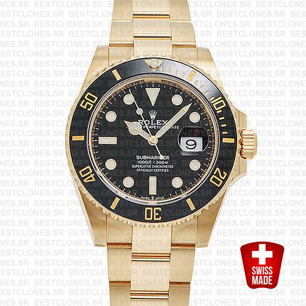 rolex submariner gold 41mm black ceramic 126618ln swiss replica 7