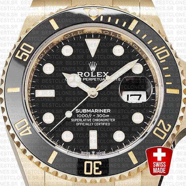 rolex submariner gold 41mm black ceramic 126618ln swiss replica 8
