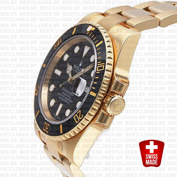 Rolex Submariner Gold Black Ceramic 40mm 116618
