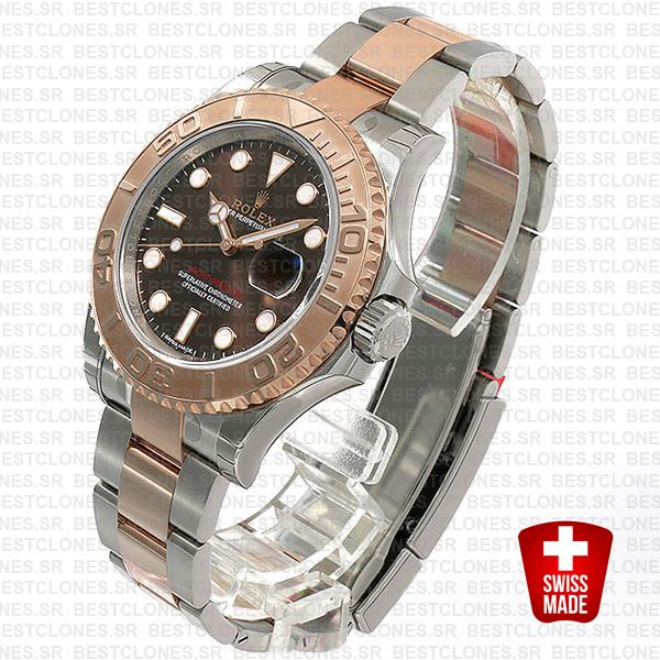 Rolex Yacht Master 2016 Rose Gold 2 Tone Chocolate 40mm 116621